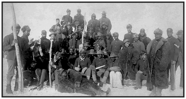 Vintage photo of Buffalo Soldiers